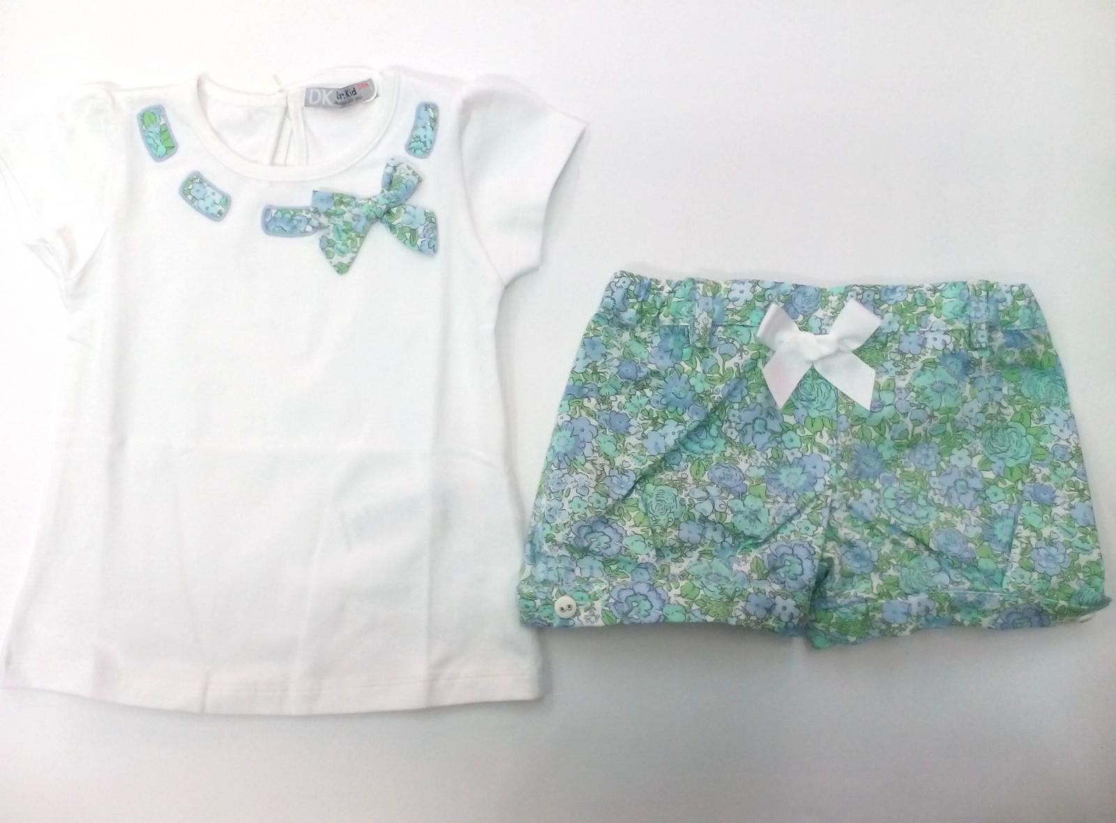Conjunto de niña con short en flores verdes de Dr Kid.