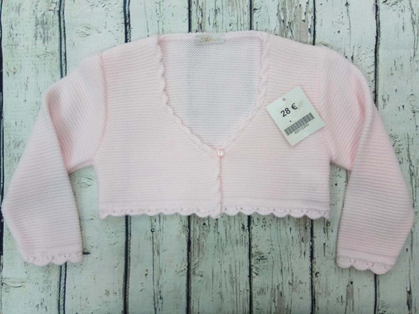 Chaqueta de niña rosa de Creacciones Alves.