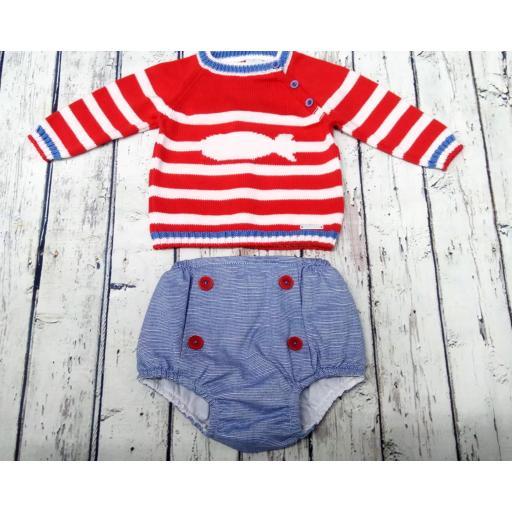 Conjunto de bebé rojo Ballena de Pangasa Baby [0]