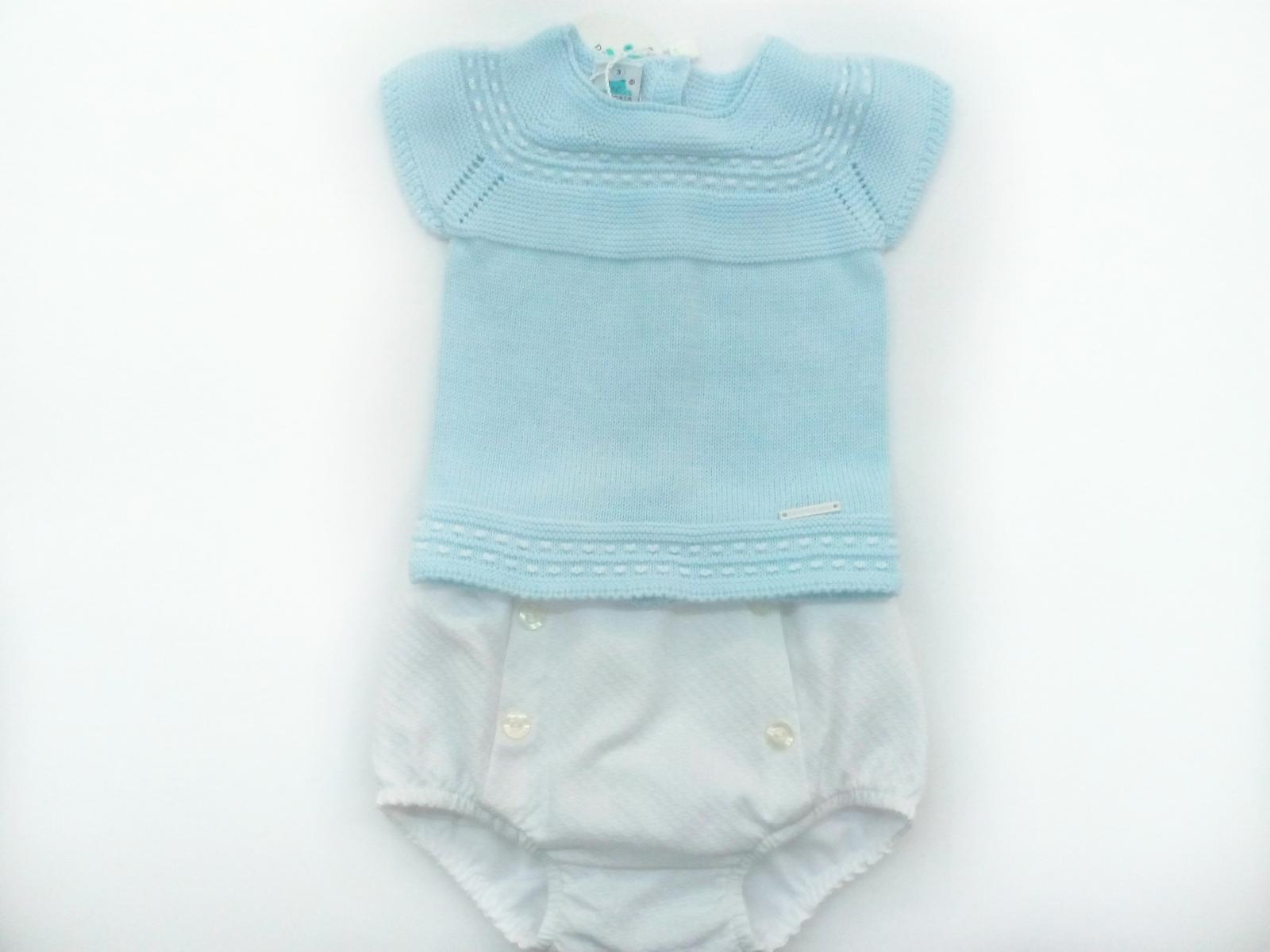 Conjunto de bebé con braga de piqué de Pangasa.