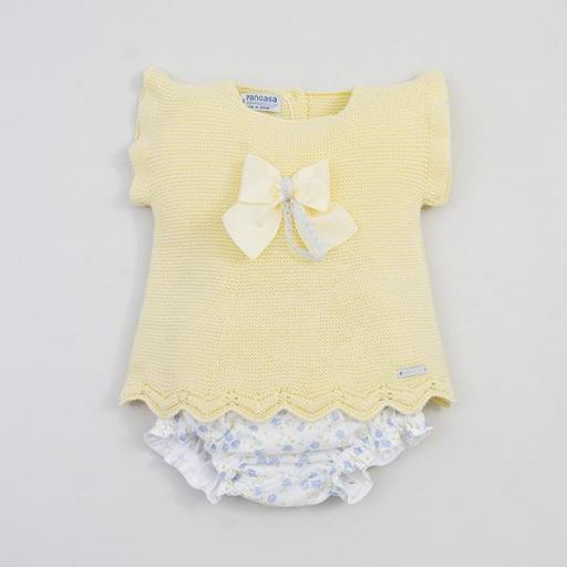 Conjunto Bebé amarillo  con ranita  de Pangasa. [0]