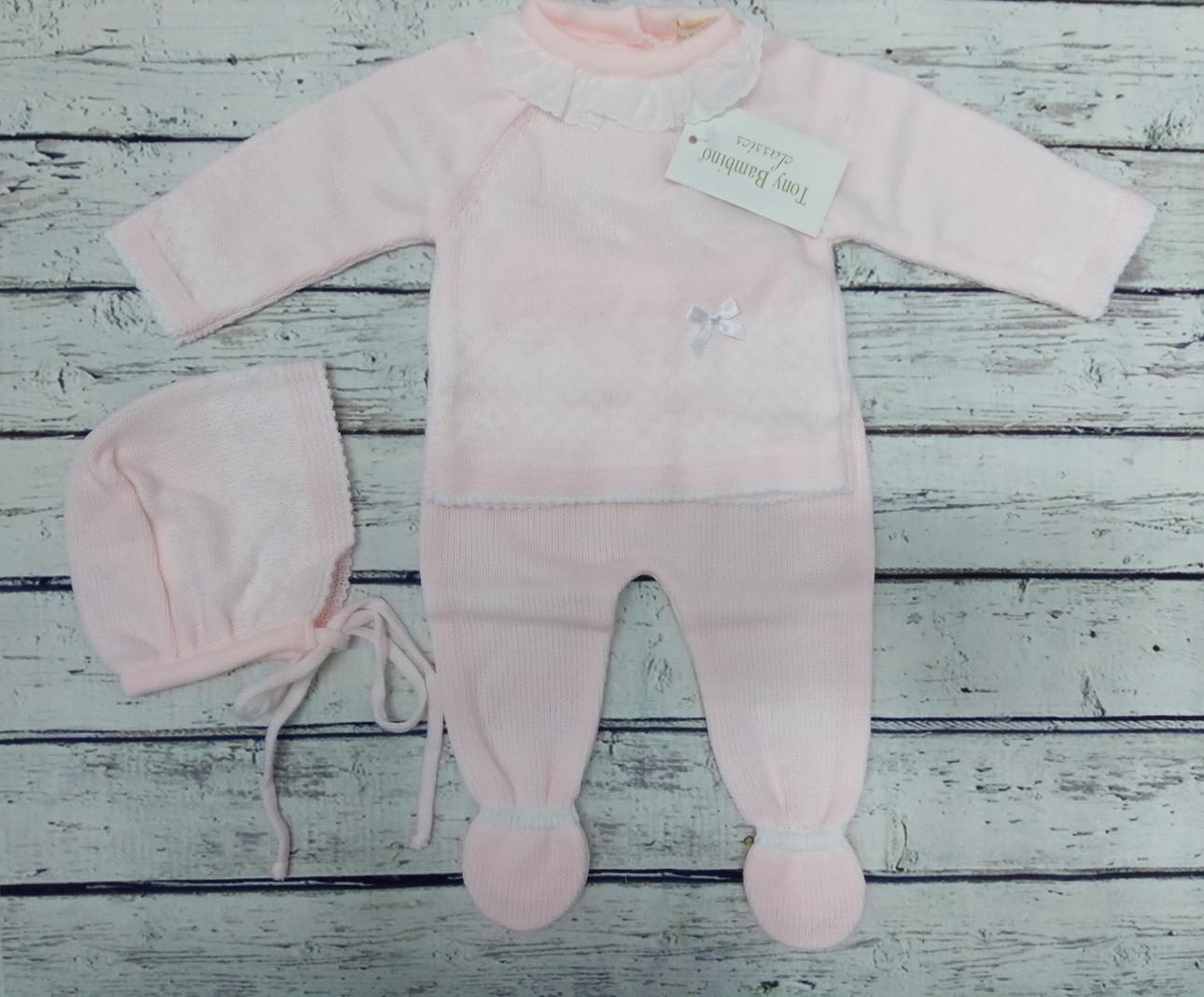 Conjunto de bebé rosa de Tony  Bambino