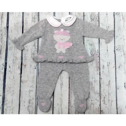 Conjunto de bebé con polaina en gris de Dr. Kid.