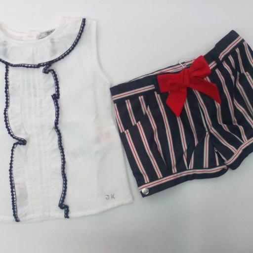 Camisa niña con short marinero de Dr Kid.  [0]