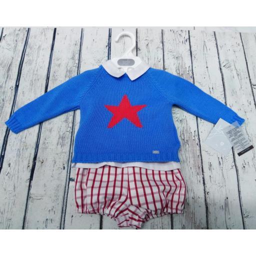 Conjunto Baby azulón jersey Estrella de Yoedu.