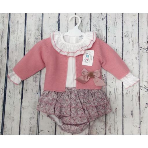 Conjunto de niña con culetin rosa de Pipos. La chaqueta se vende aparte. [0]