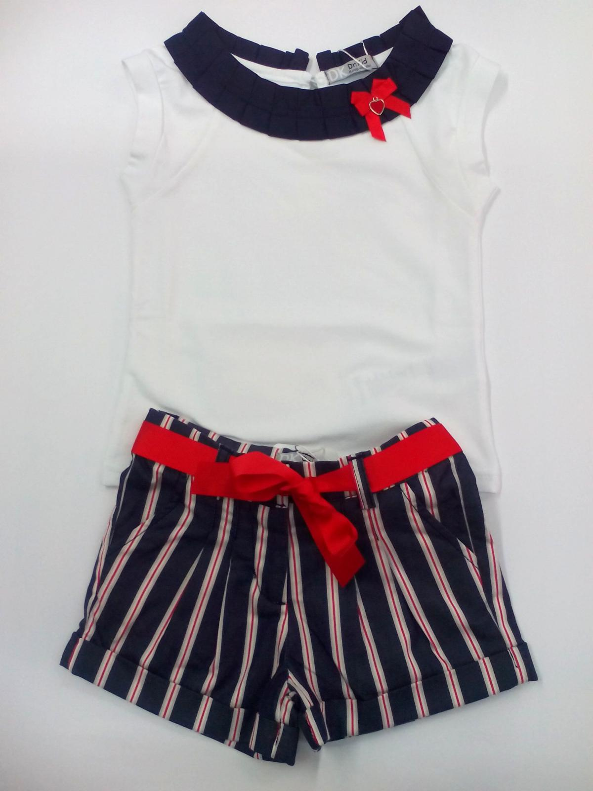 Conjunto niña con pantalón rayas marinero de Dr Kid.