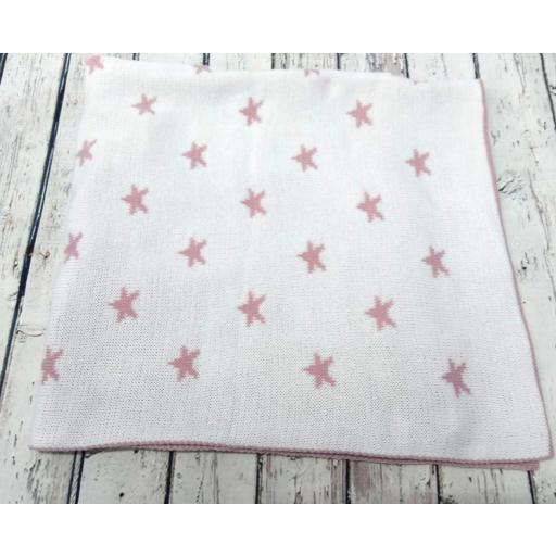 Toquilla Estrellas en rosa palo de Pipos, reversible. [3]