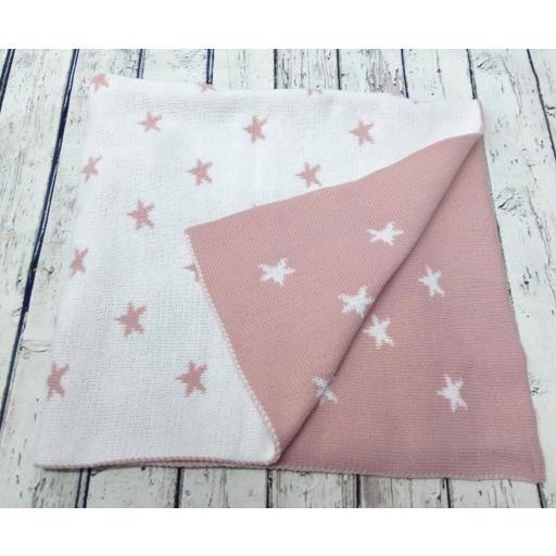 Toquilla Estrellas en rosa palo de Pipos, reversible. [2]