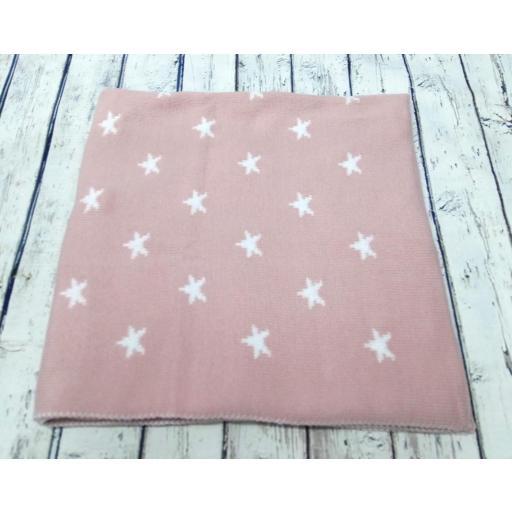 Toquilla Estrellas en rosa palo de Pipos, reversible. [1]