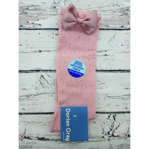 Media de niña calada de perle en rosa palo de Dorian Gray [0]