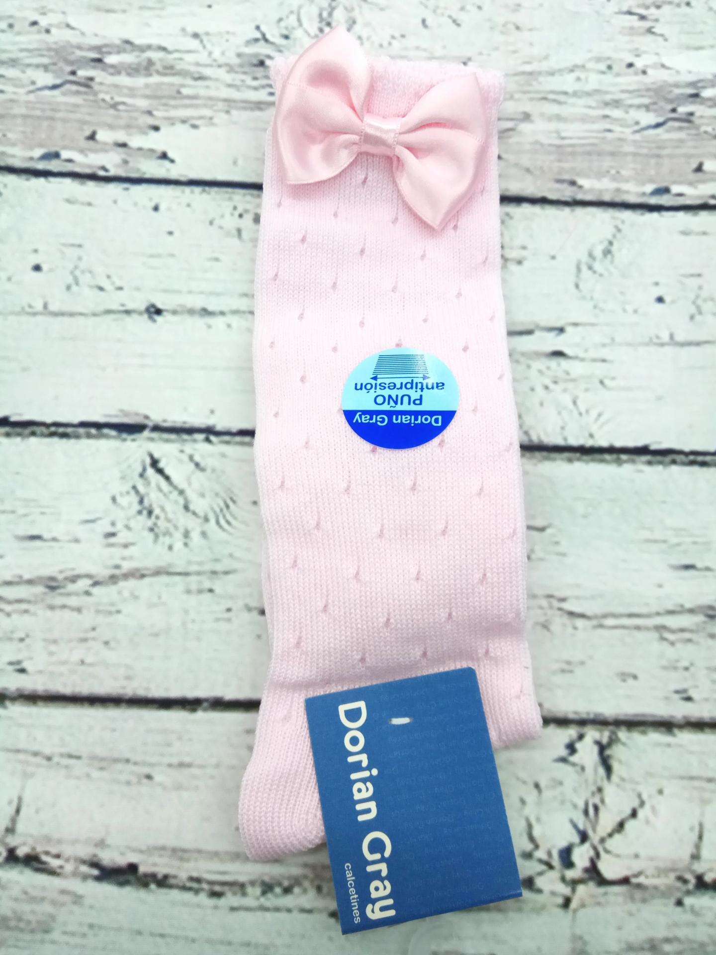 Media de niña rosa calada de perle de Dorian Gray