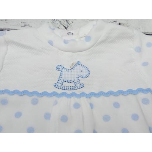 """Pijama bebé topos azules """" Caballito """" de Tony Bambino [1]"""