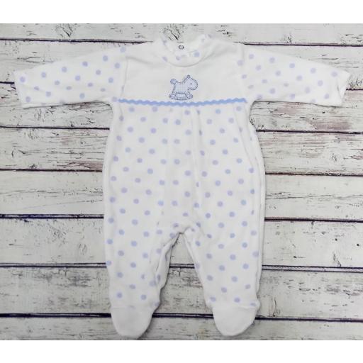"""Pijama bebé topos azules """" Caballito """" de Tony Bambino"""