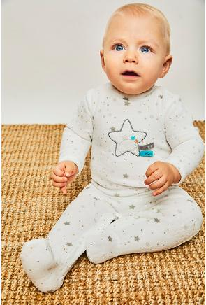 Pijama bebé en marfil  Estrella de  Yatsi.