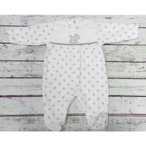 """Pijama bebé topos grises """" Caballito """" de Tony Bambino"""