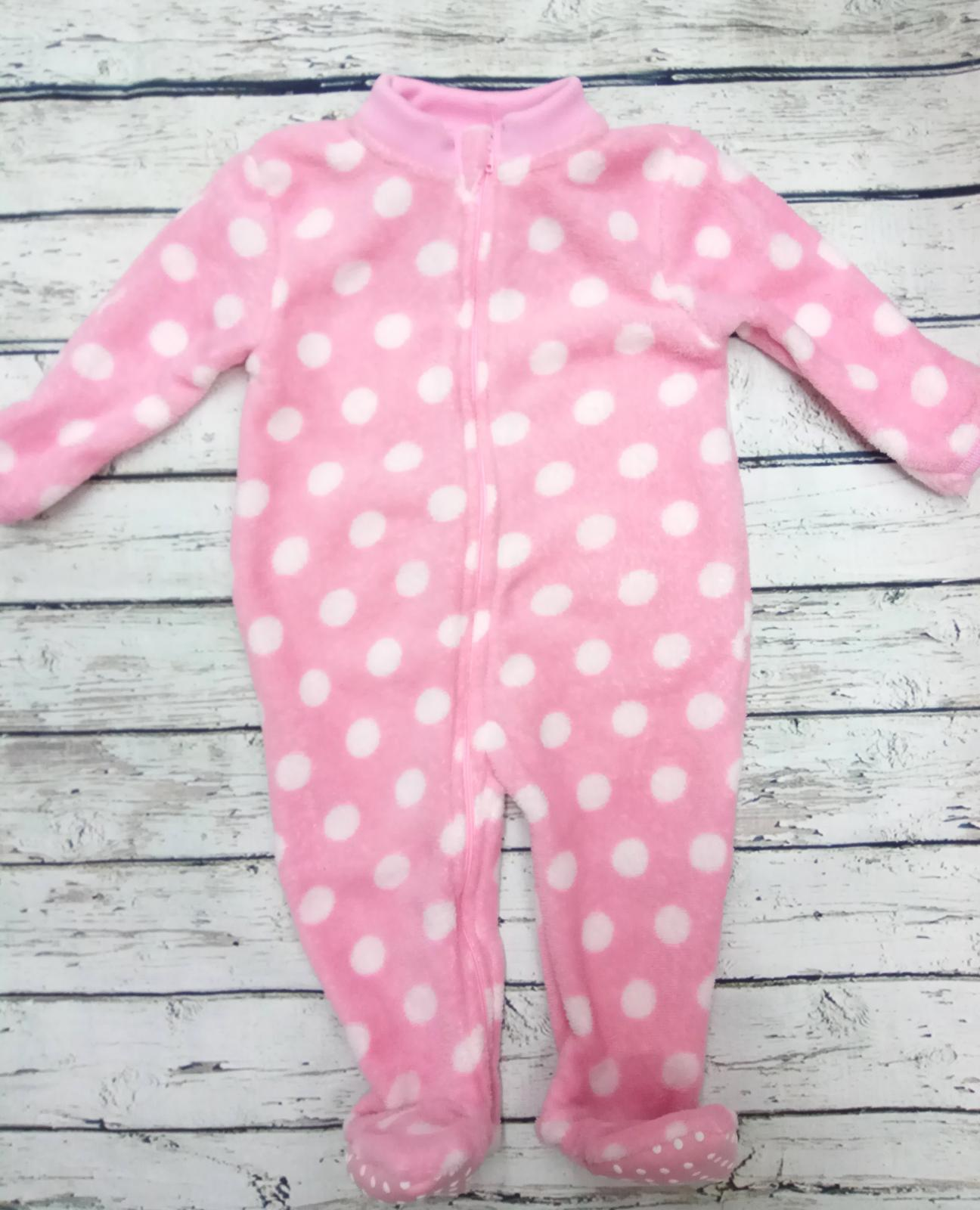Pijama manta bebé rosa de topos.