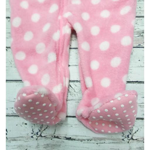 Pijama manta bebé rosa de topos. [1]