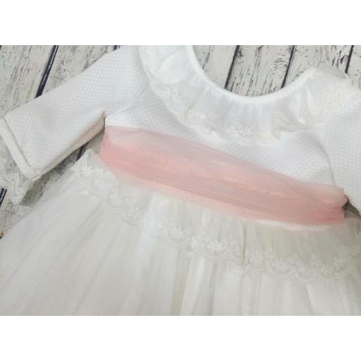 Vestido de niña marfil de ceremonia de Basmarti [1]