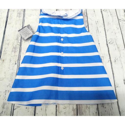 "Vestido de niña rayas en azulón ""Piamonte "" de Yoedu [1]"