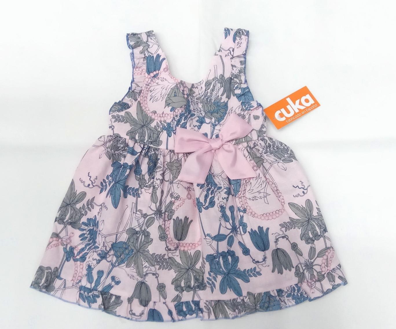 Vestido de niña flores de Basmartí