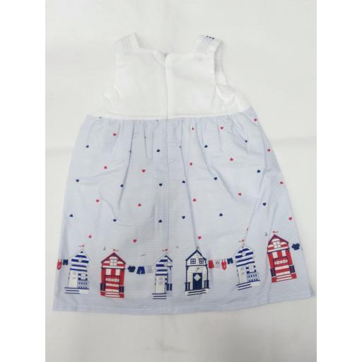 Vestido de niña marinero con casetas de Dr. Kid. [1]