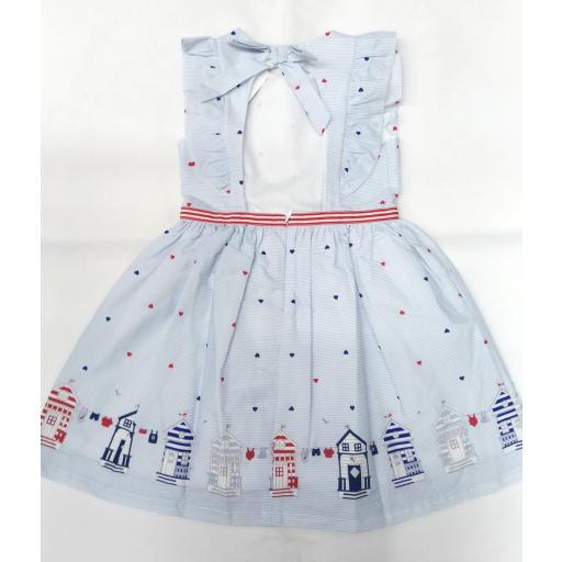 Vestido de niña marinero con casetas de Dr. KID [1]