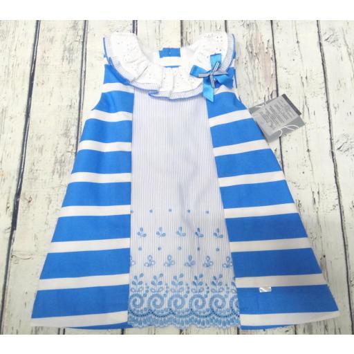 "Vestido de niña rayas en azulón ""Piamonte "" de Yoedu"