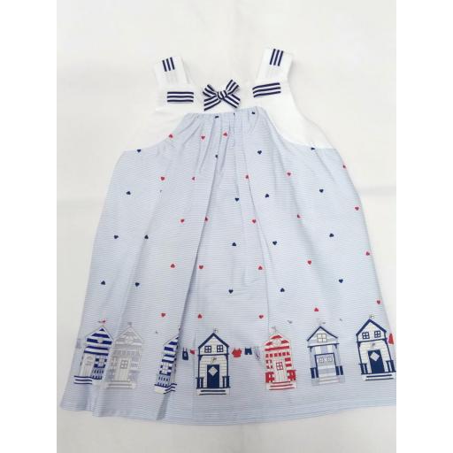 Vestido de niña marinero con casetas de Dr. Kid.