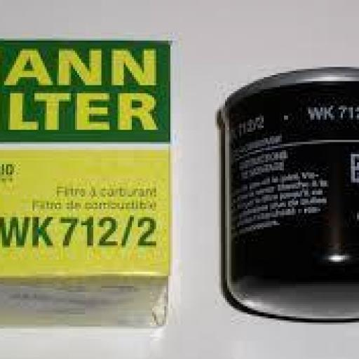 Filtro combustible MANN-FILTER WK 712/2