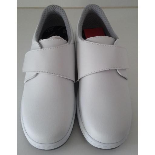 Zapato velcro blanco. [0]