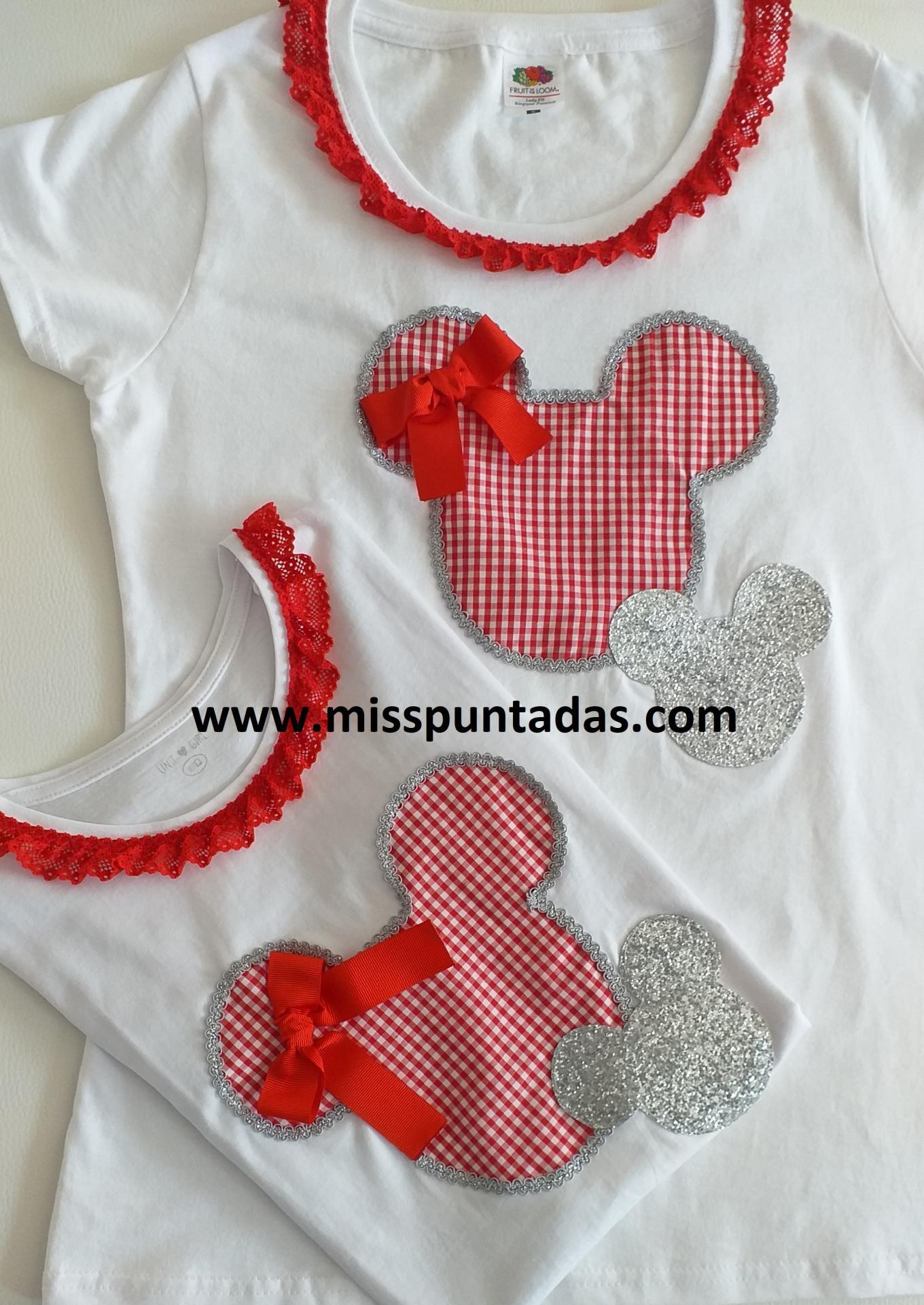 Camiseta madre silueta Minnie