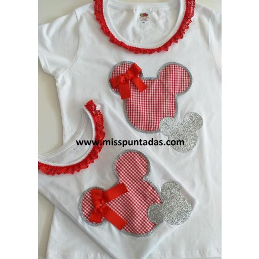Camiseta madre silueta Minnie