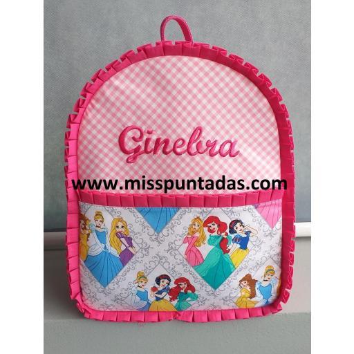 Mochila Princesas rosa.