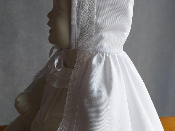 Capa Bautizo blanca sin bordar