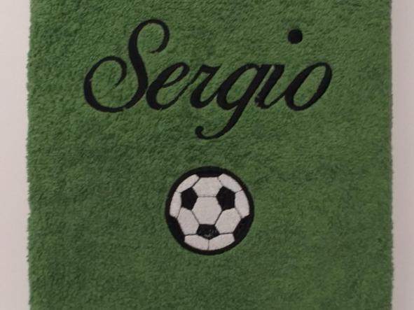 Toalla balón de Futbol.