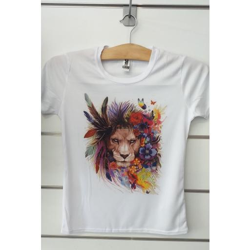 Camiseta leona.