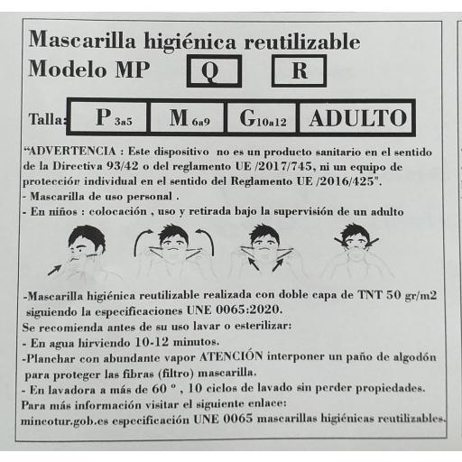 Mascarilla Minnie reutilizable. [2]