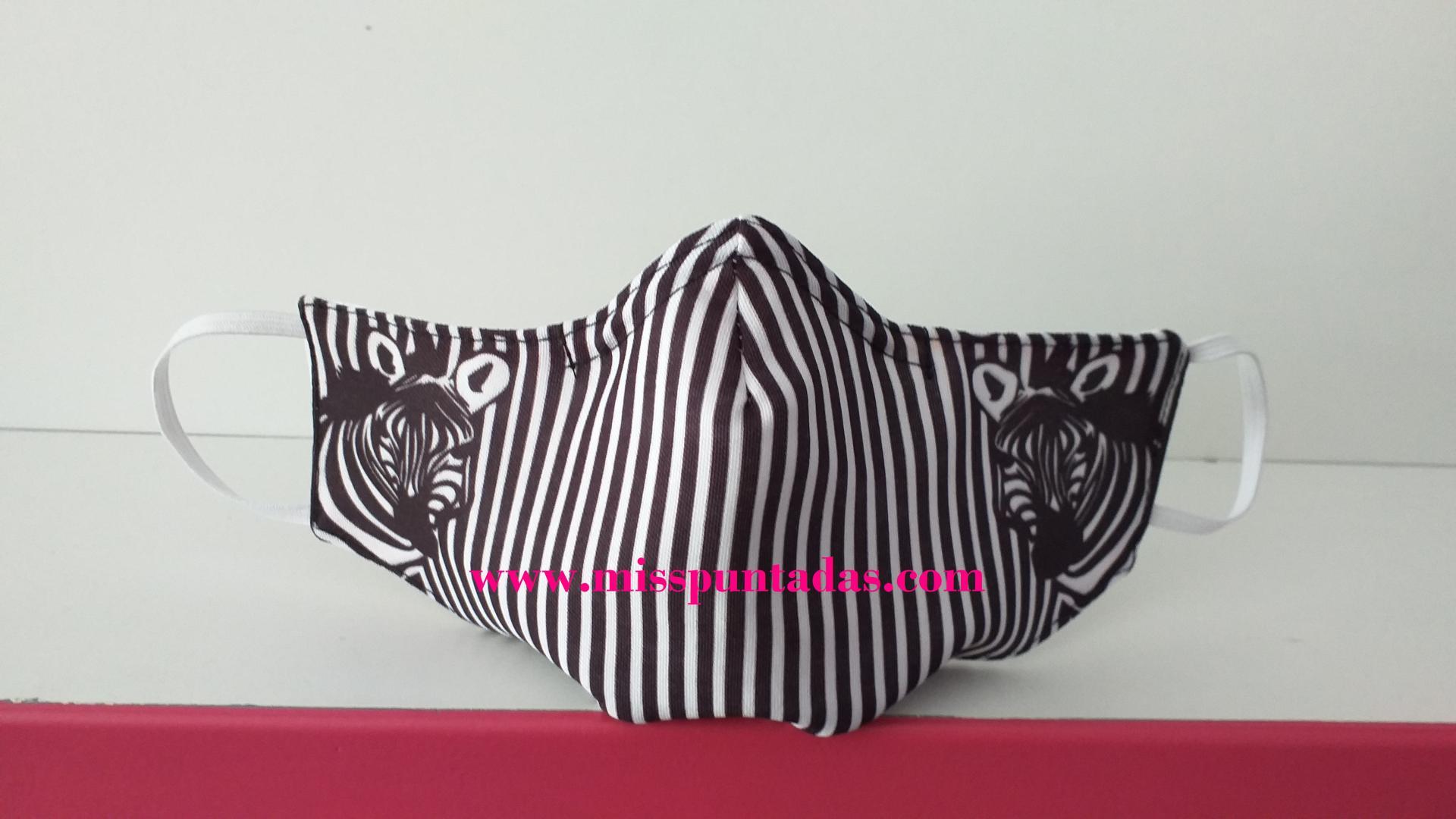 Mascarilla 2 Zebras MP-VR
