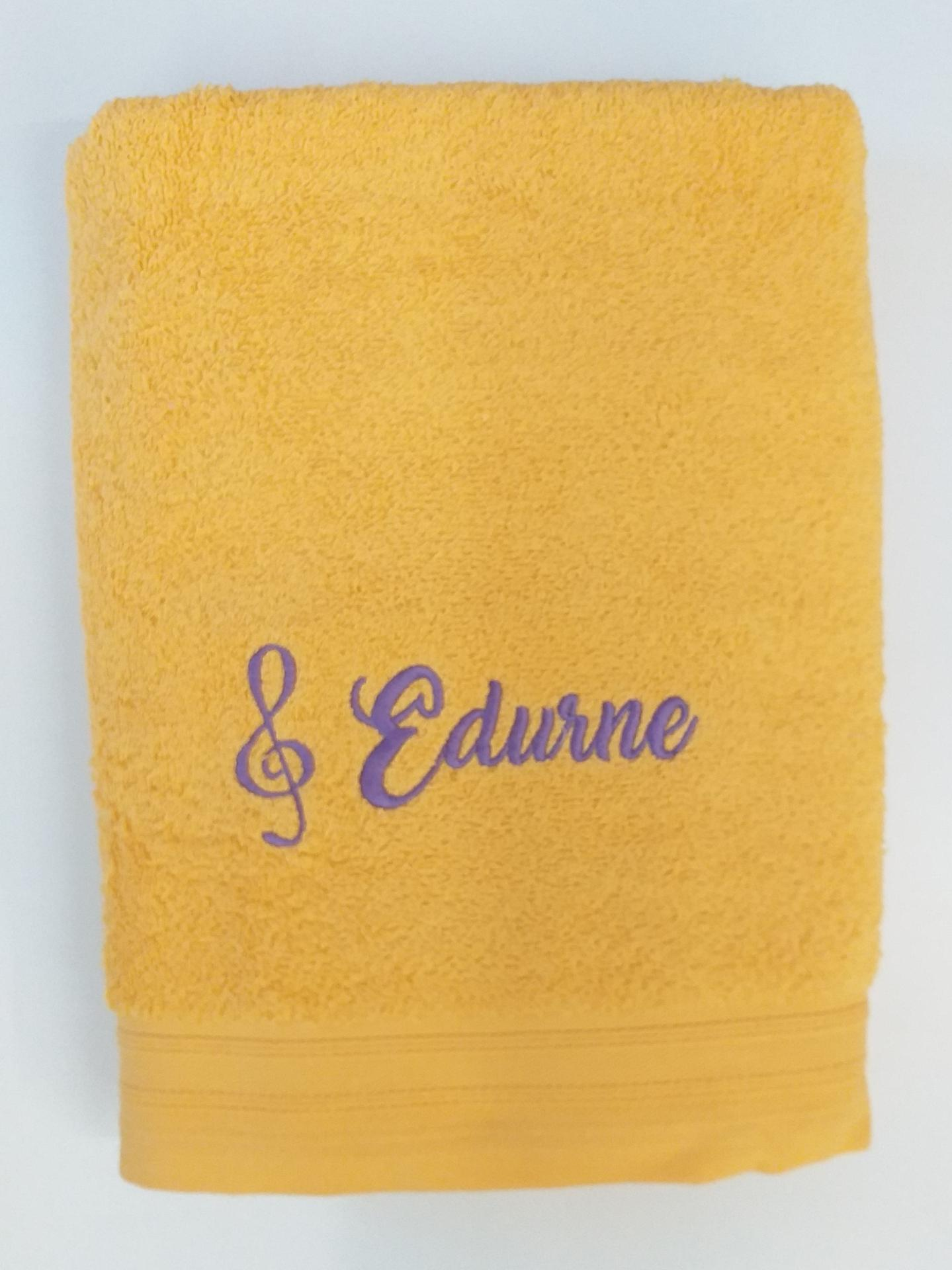 Toalla amarilla Edurne.