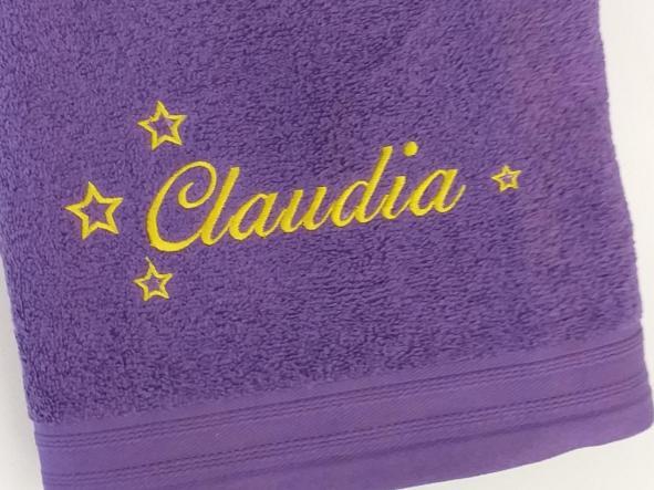 Toalla Violeta Claudia.