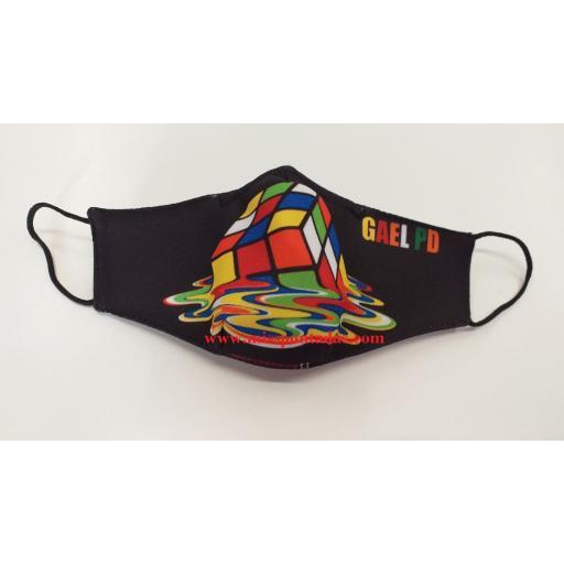 Mascarilla Cubo Rubik con nombreMP-VR.