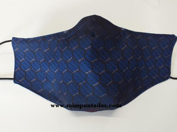 Mascarilla Panel hexagonal azul MP-VR.