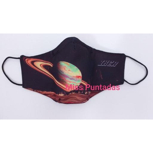 Mascarilla Saturno con nombre MP-VR.
