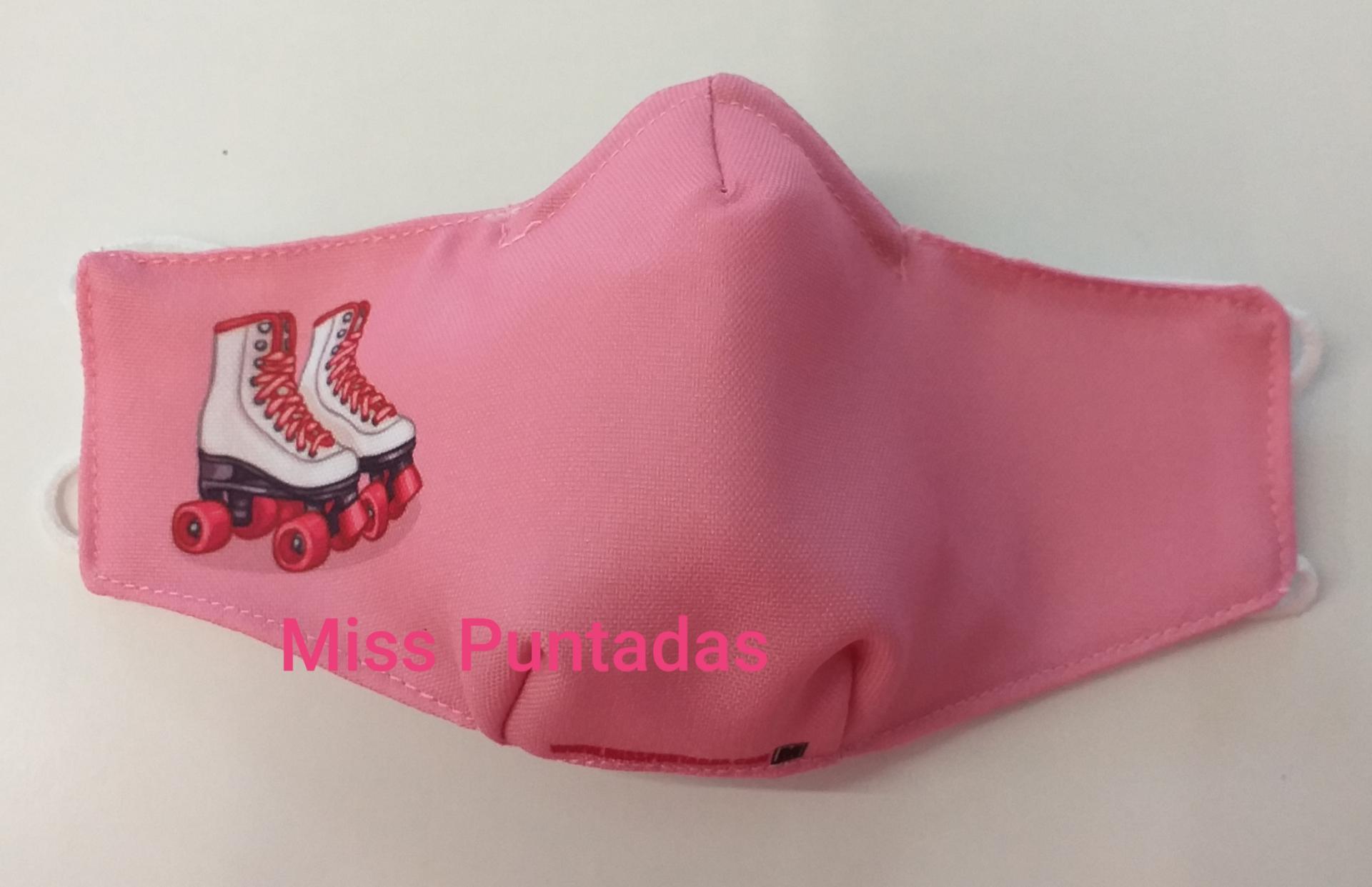 Mascarilla Patines rosa MP-VR