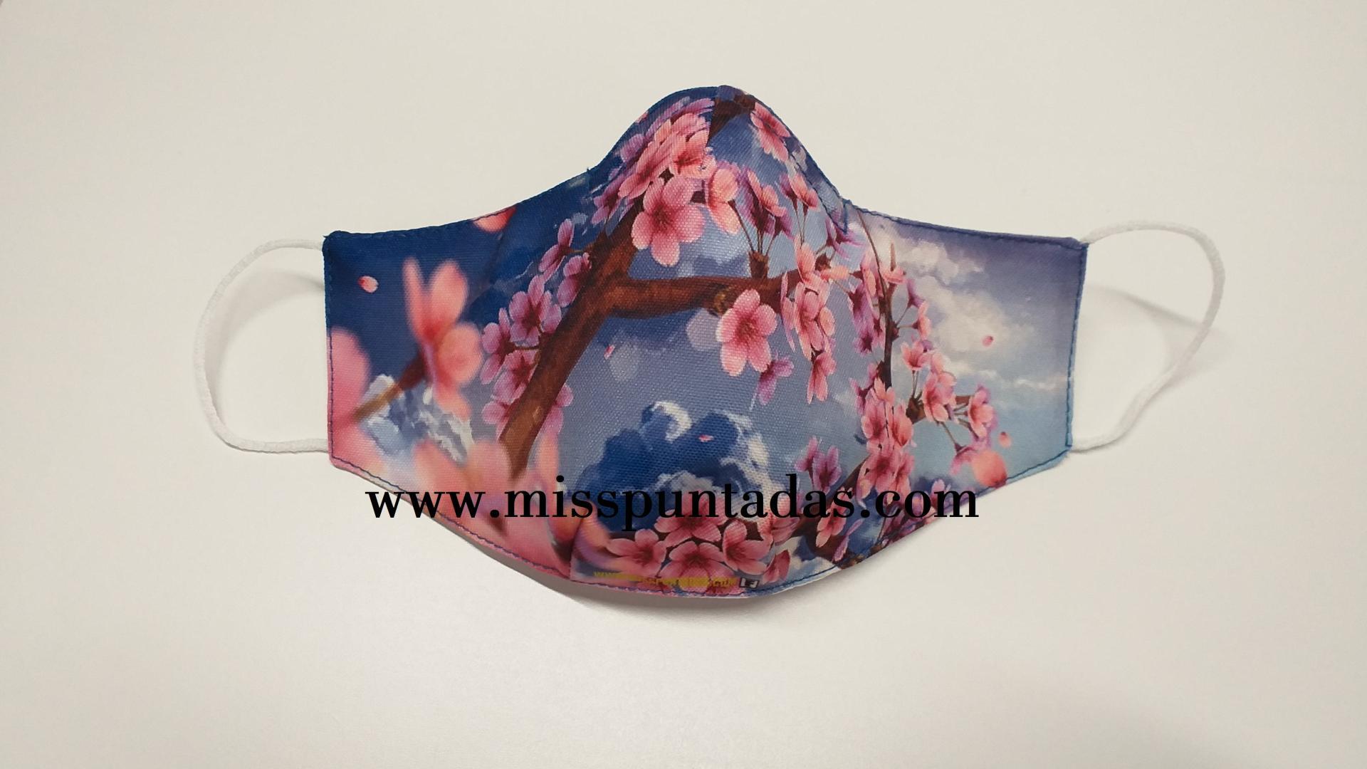 Mascarilla Flores de Cerezo nubes