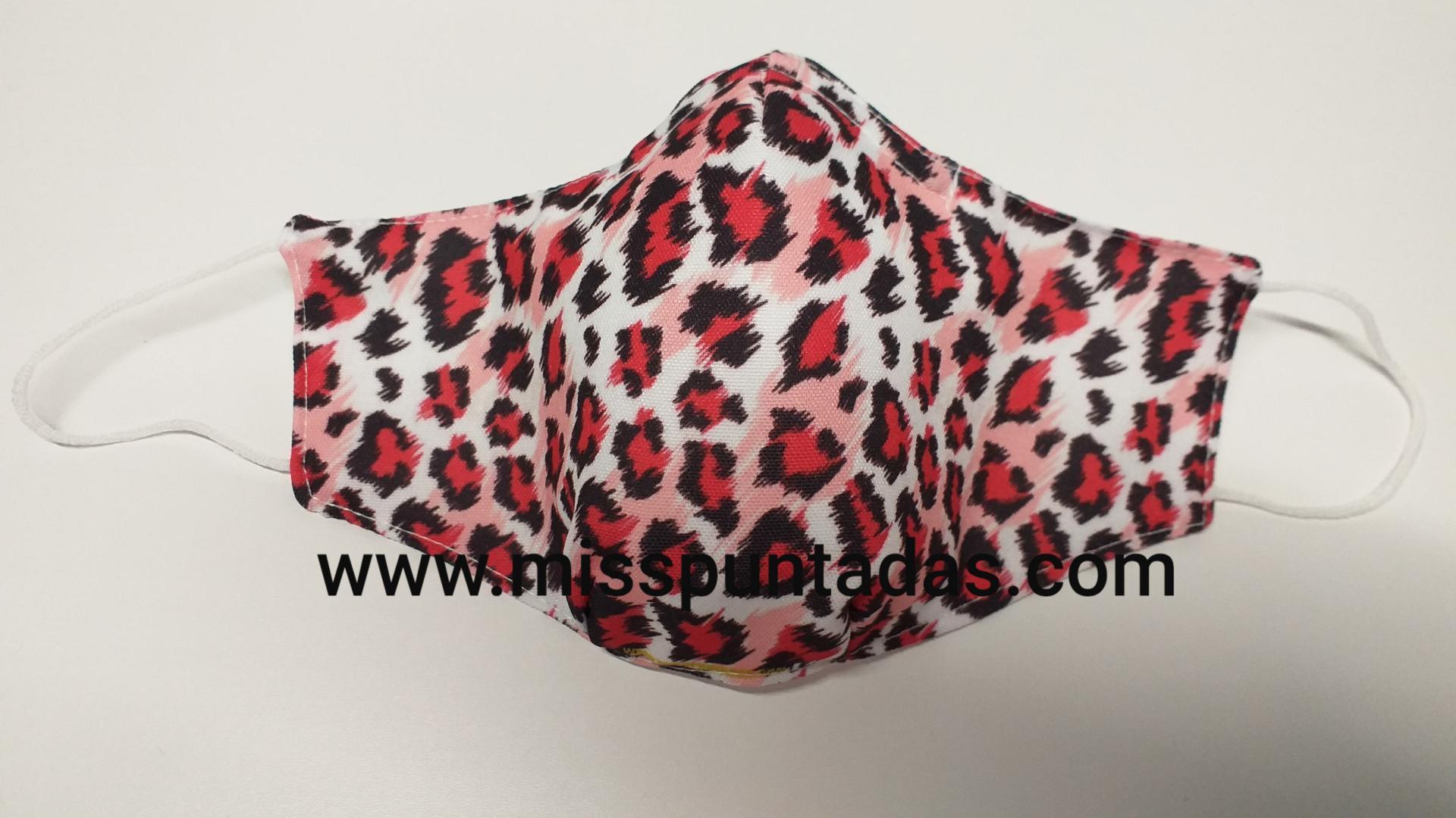 Mascarilla Leopardo manchas rosas