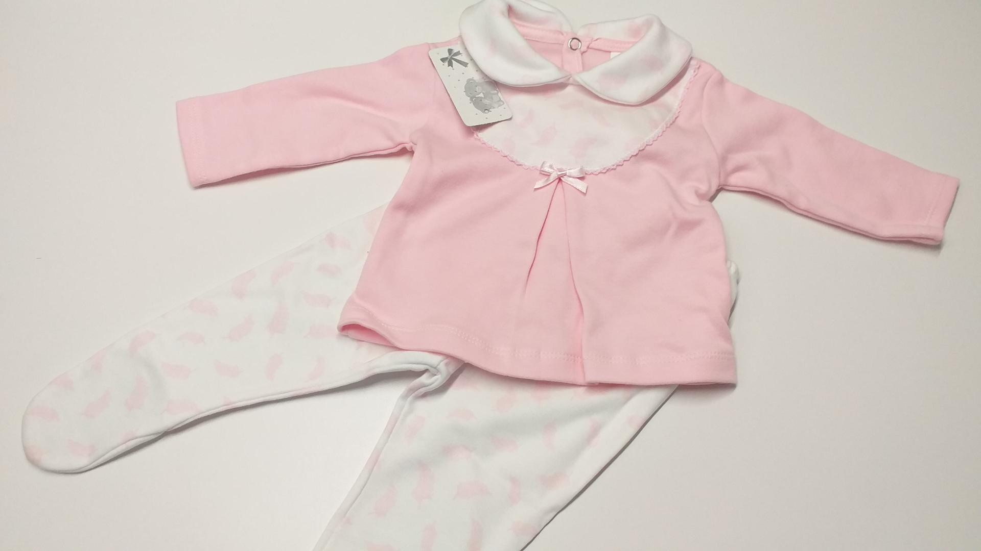 Pijama Plumas rosa T.3