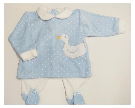 Pijama mod. Pato azul.