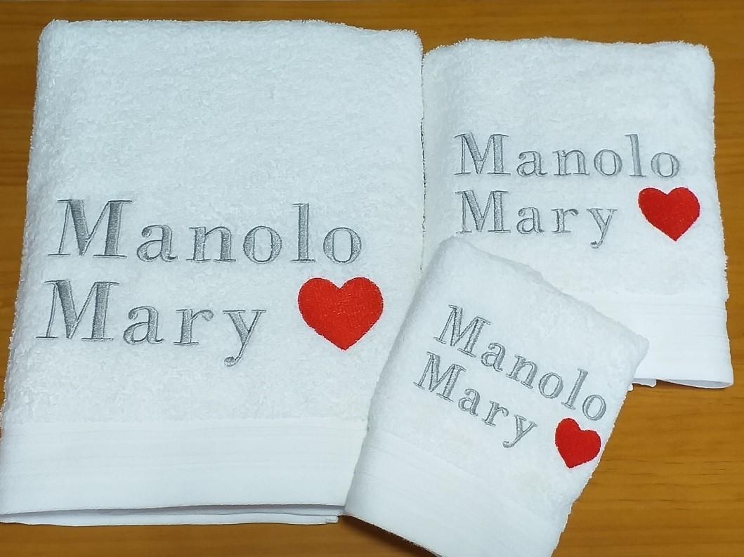 Juego 3 toallas Manolo y Mary